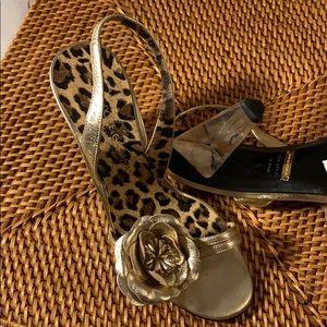Dolce & Gabbana Gold Sandals